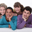 Two young couples — Stock Photo