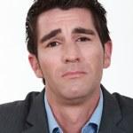 Businessman looking sad and upset — Stock Photo