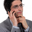 Stylish businessman talking on his mobile phone — Stock Photo #9787508
