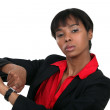A female boss reminding the time. — Stock Photo