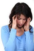 Woman having a headache — Stock Photo