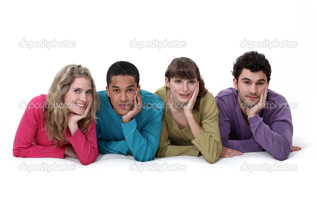An ethnically diverse group of young — Stock Photo #9783084