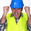 Furious construction worker. — Stock Photo #9806701
