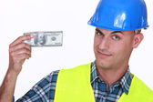 Tradesman earning a decent living — Stock Photo