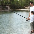 Father and son fishing — Stock Photo #9810281