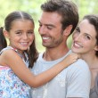 Portrait of parents with child — Stock Photo