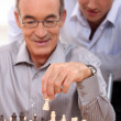 Stock Photo: Mplaying chess