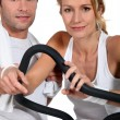 Stock Photo: Couple in gym
