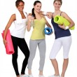 Young women ready for their gym class — Stock Photo