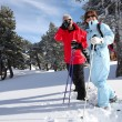 Mature ski couple — Stock Photo