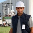 Foreman in construction site — Stock Photo