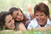Three generations of women — Stock Photo
