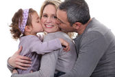 A loving family — Stock Photo