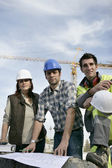 Construction colleagues — Stock Photo