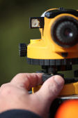 Close-up of land surveying equipment — Stock Photo