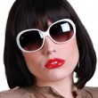 Sophisticated woman with sunglasses - Stock Photo