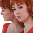 Portrait of an attractive redhead — Stock Photo #9822976