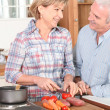 Senior couple in the kitchen — Stock Photo