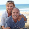Couple on the beach — Stock Photo #9824054