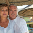 Middle-aged couple on holiday - Stockfoto