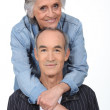 Affectionate old couple — Stock Photo