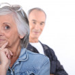 Funny middle-aged couple — Stock Photo #9824608