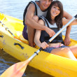 Royalty-Free Stock Photo: Couple in canoe