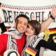 Happy German football fans — Stock Photo #9826702