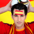 Enthusiastic Spain supporter — Stock Photo