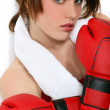 A female boxer. — Stock Photo