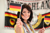 Fan de football allemands — Photo