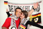 Happy German football fans — Zdjęcie stockowe