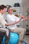 Senior women in rehabilitation class — Stock Photo
