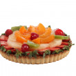 Stock Photo: Mixed fruit tart