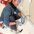 Stock Photo: Electrician