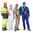 Group of workers — Stock Photo