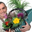 Stock Photo: Male florist