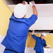 Craftsmen wiring a building — Stock Photo #9955060