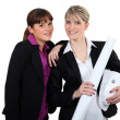 Female architect and friend — Stock Photo #9957904