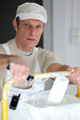 Portrait of painter-decorator — Stock Photo