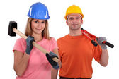 A couple of manual worker. — Stock Photo
