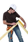 Telaio porta artigiano di misura — Foto Stock