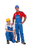 A team of tradesmen posing for the camera — Foto Stock