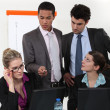Businesspeople during meeting — Stock Photo #9960163