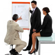 Three employees in business meeting — Stock Photo #9961566