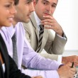Businessman during meeting — Stock Photo #9961600