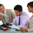 Three having a business meeting — Stock Photo #9961709