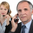 Stock Photo: Telephone conversations