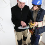 Electrician training apprentice — Stock Photo