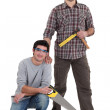 Portrait of a team of tradesmen — Stock Photo #9963026